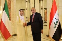 «عادل عبدالمهدی» با امیر کویت تلفنی گفتگو کرد