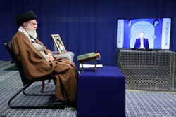 Leader attends a ceremony for reciting Holy Quran via videoconference