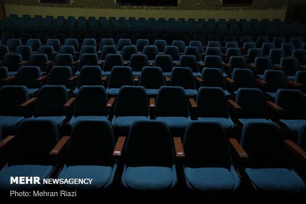 تئاتر Tehran's City Theater void of people amid outbreak