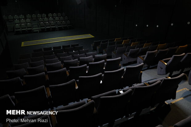 Tehran's City Theater void of people amid outbreak