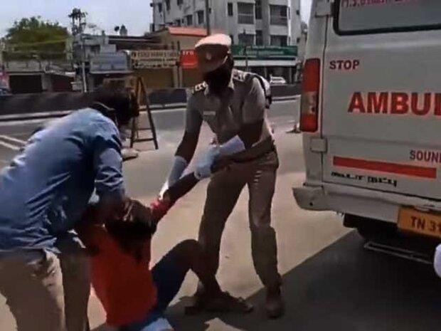 بھارتی پولیس نے ایک نوجوان کو کورونا وائرس کے مریض کے ساتھ بند کردیا