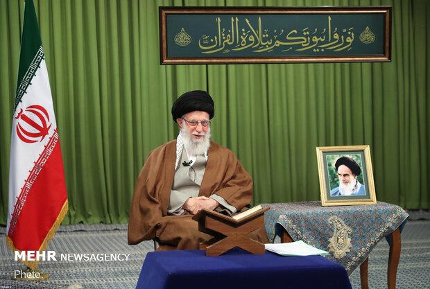 الحفل القرآنی لآیة الله السید علی الخامنئی عبر الفیدیو کونفرانس