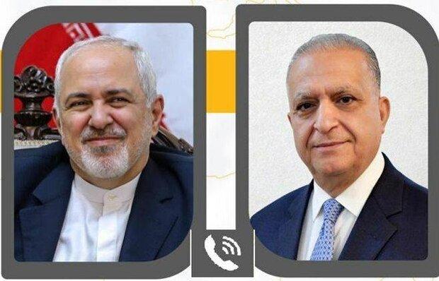 ظریف با همتای عراقی خود گفتگو کرد/ رایزنی درباره تحولات منطقه