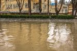 سیلاب و آبگرفتی معابر در «خاوران» فارس