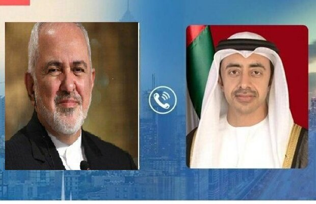FM Zarif, Emirati counterpart hold phone talks