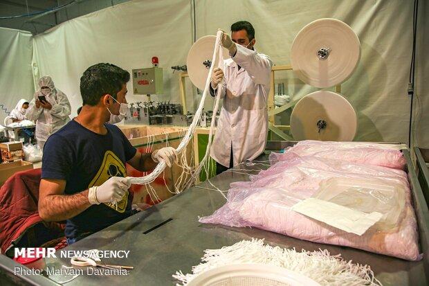 بزرگترین کارخانه تولید ماسک در خراسان شمالی