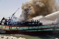 Two vessels catch fire in Bandar Abbas