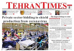 Front pages of Iran international dailies on April 28