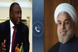 Iranian, South African Presidents discuss US sanctions, coronavirus on phone