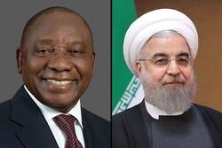 إيران وأفريقيا الجنوية تؤكدان على تعزيز التعاون في مجال مكافحة كورونا