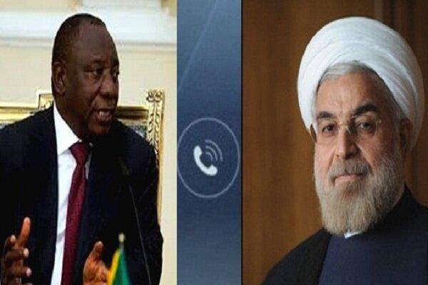 Iranian, South African Presidents discuss US sanctions, coronavirus on phone