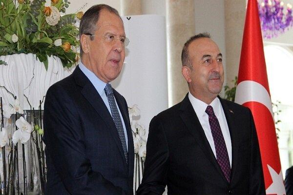 دیدار وزرای خارجه ترکیه و روسیه با تمرکز بر مسائل سوریه و لیبی