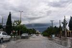 آبگرفتگی معابر شهر دهلران بر اثر شدت بارندگی