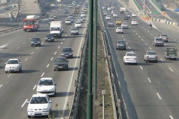 ترافیک جادههای استان قزوین سنگین میشود