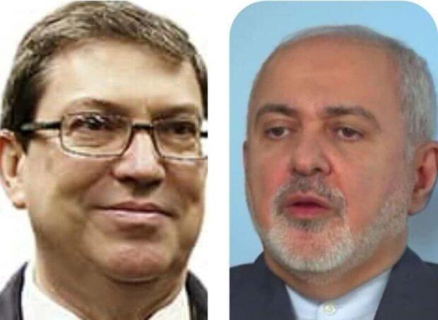 Iranian, Cuban FMs hold talks on coronavirus
