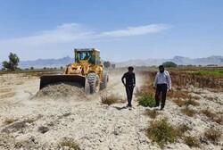 رفع تصرف ۷۵ هکتار از اراضی ملی در شهرستان پارسیان