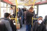 ناتوانی همدان در رعایت فاصله گذاری اجتماعی در حمل ونقل درون شهری