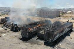حمله ائتلاف سعودی به یک مرکز حاوی دارو و غذا در مرکز یمن