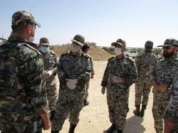"""قائد القوة الجوية للجيش يتفقد مجموعة الدفاع الجوي لجزيرة """"خارك"""""""