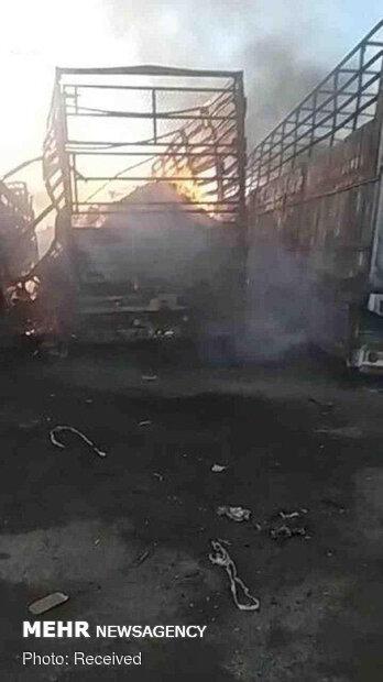 Yemen'de Suudi koalisyonu tıbbi ilaç yüklü tırları vurdu!