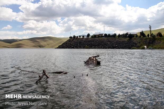 Vahdat Dam in Kurdestan prov. Overflows
