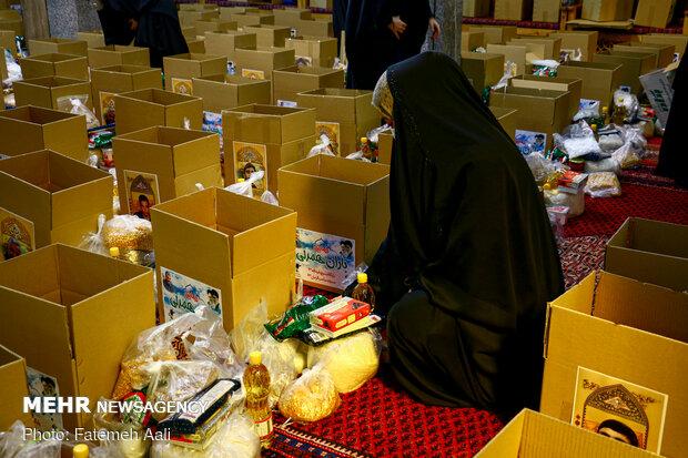 Dar gelirli ailelere gıda kolisi ve sağlık paketi yardımı