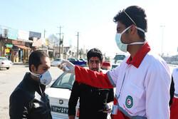 ۲۱ میلیون نفر در ورودی شهرها توسط هلال احمر تب سنجی شدند