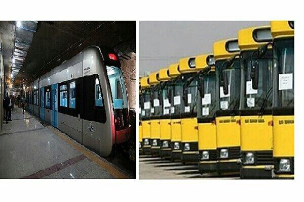 افزایش ساعت فعالیت اتوبوسرانی و فعالیت مجدد قطارشهری مشهد