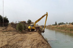 لایروبی ۲۸ کیلومتر از رودخانهها و زهکشها دارخوین در سیل شادگان