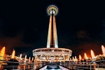 Milad Tower lit up gold in support of children with cancer