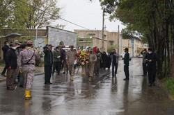 پیکر شهید «شکیبا سلیمی» در قروه تشییع شد