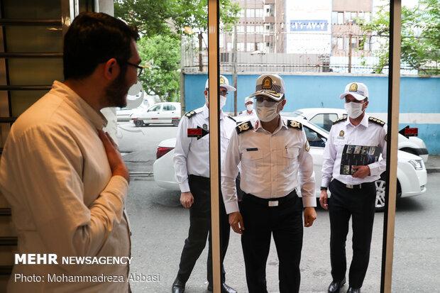 بازدید محمدرضا مهماندار رئیس پلیس راهنمایی و رانندگی تهران بزرگ از خبرگزار مهر