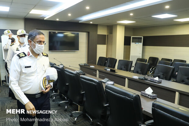 Tehran Traffic Police chief visits MNA HQ