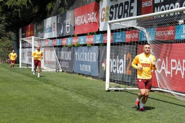 Galatasaray'dan sosyal mesafeli antrenman