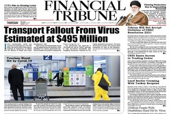 Front pages of Iran international dailies on May 7