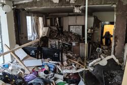 تہران میں دھماکہ سے عمارت تباہ ہوگئی