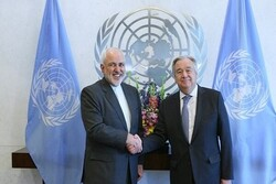 ظريف یبعث رسالة إلى الأمين العام للأمم المتحدة
