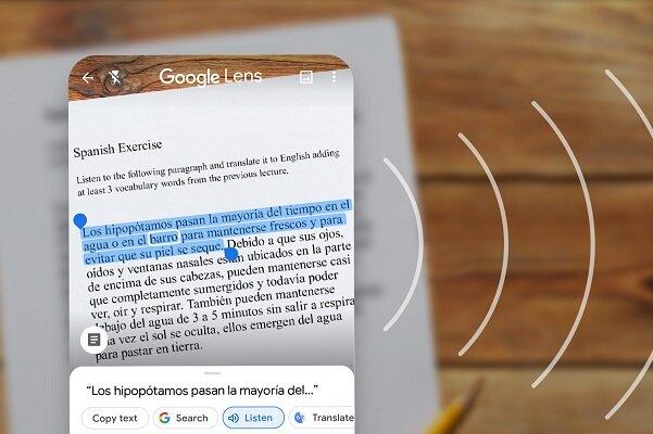 انتقال متنهای فیزیکی به رایانه با گوگل لنز