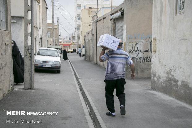 Tebriz'de 60 bin adet gıda kolisi dağıtıldı