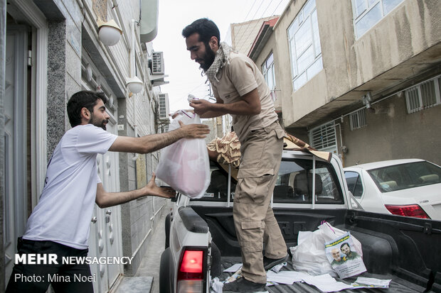Sincere assistance to needy in Tabriz