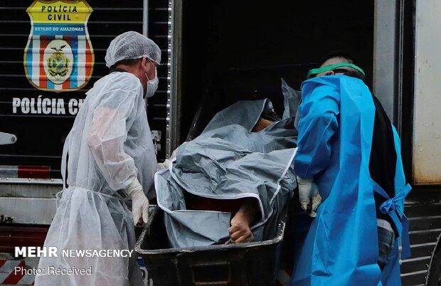 Brezilya'da 1 günde 921 kişi koronavirüsten öldü