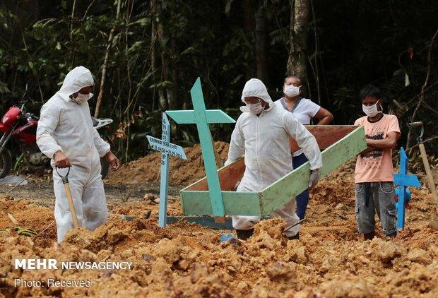 برازیل میں کوروناوائرس سے ہلاکتوں کی تعداد 59 ہزار 656 ہوگئی