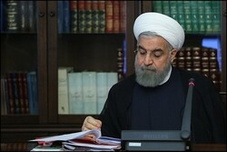 Rouhani expresses condolences on martyrdom of navy sailors
