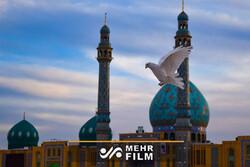 Kum kentindeki Cemkeran Camii'nden görüntüler