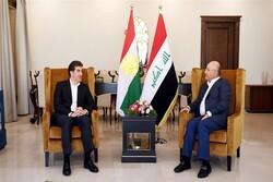 تأکید «صالح» و«بارزانی» بر همکاری میان بغداد و اقلیم کردستان عراق