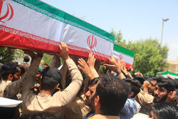 Funeral processions of 19 martyrs of Iranian Navy