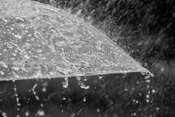 بارش شدید باران و تگرگ در میانه های تابستان تبریز