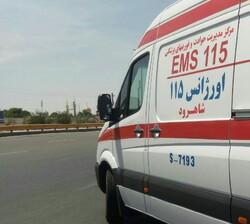 برخورد مرگبار وانت پیکان با گاردریل در اتوبان چمران اصفهان