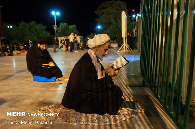 احیا شب نوزدهم ماه مبارک رمضان در جوار حرم مطهر حضرت معصومه(س)