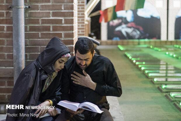 مراسم شب قدر در گلزار شهدای وادی رحمت تبریز
